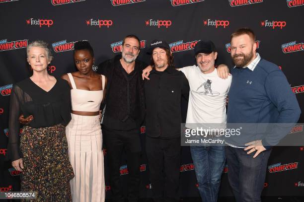 Melissa McBride Danai Gurira Jeffrey Dean Morgan Norman Reedus Andrew Lincoln and Robert Kirkman attend the NYCC panel and fan screening of 'The...