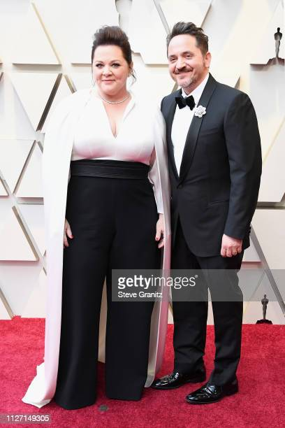Melissa McCarthy and Ben Falcone attend the 91st Annual Academy Awards at Hollywood and Highland on February 24 2019 in Hollywood California