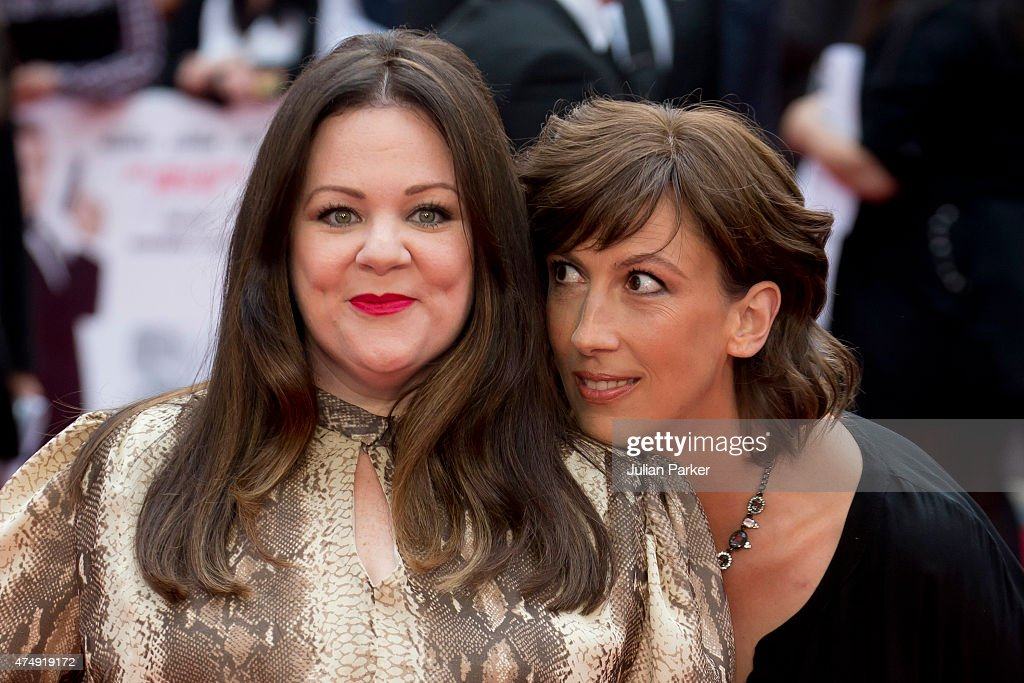 Melissa McCarthy, and Miranda Hart, attend the UK Premiere of 'Spy' at Odeon Leicester Square on May 27, 2015 in London, England.