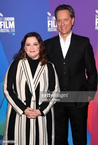 Melissa McCarthy and Richard E Grant attend a questions answers session after the UK Premiere of Can You Ever Forgive Me during the 62nd BFI London...