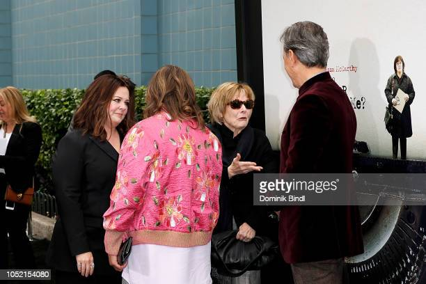 Melissa McCarthy Anna Deavere Smith Jane Curtin and Richard E Grant during the 'Can You Ever Forgive Me' New York Premiere at SVA Theater on October...