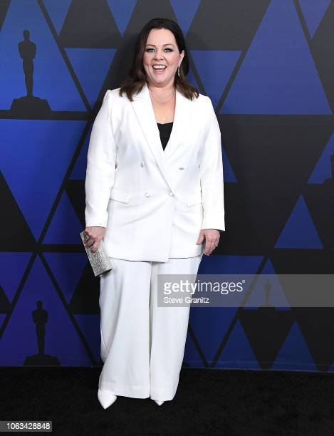 Melissa McCarthy arrives at the Academy Of Motion Picture Arts And Sciences' 10th Annual Governors Awards at The Ray Dolby Ballroom at Hollywood...