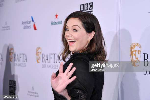 Melissa McCarthy arrives to the BAFTA Tea Party at The Four Seasons Hotel Los Angeles at Beverly Hills on January 05 2019 in Beverly Hills California