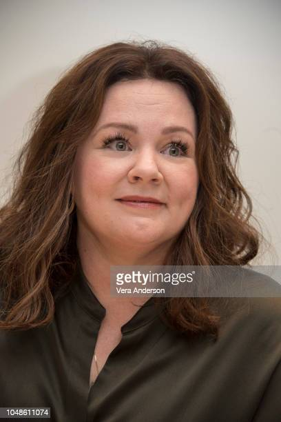 Melissa McCarthy at the Can You Ever Forgive Me Press Conference at the Four Seasons Hotel on October 8 2018 in Beverly Hills California