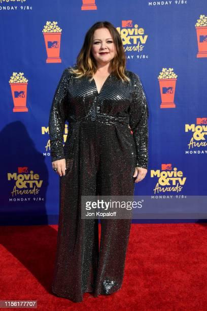 Melissa McCarthy attends the 2019 MTV Movie and TV Awards at Barker Hangar on June 15 2019 in Santa Monica California