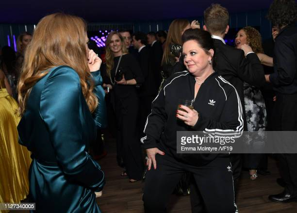 Melissa McCarthy attends the 2019 Vanity Fair Oscar Party hosted by Radhika Jones at Wallis Annenberg Center for the Performing Arts on February 24...