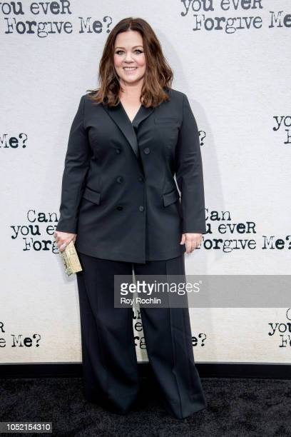 Melissa McCarthy attends the Can You Ever Forgive Me New York premiere at SVA Theater on October 14 2018 in New York City