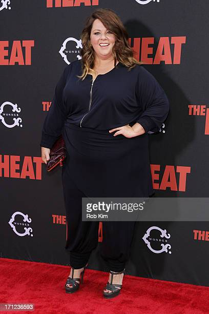Melissa McCarthy attends The Heat New York Premiere at Ziegfeld Theatre on June 23 2013 in New York City