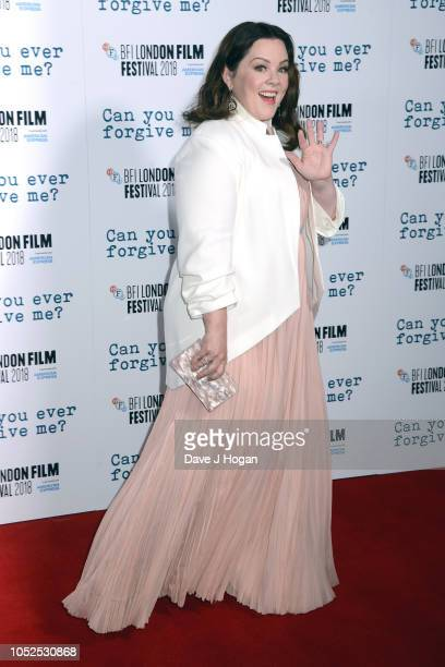 Melissa McCarthy attends the UK Premiere of Can You Ever Forgive Me Headline gala during the 62nd BFI London Film Festival on October 19 2018 in...