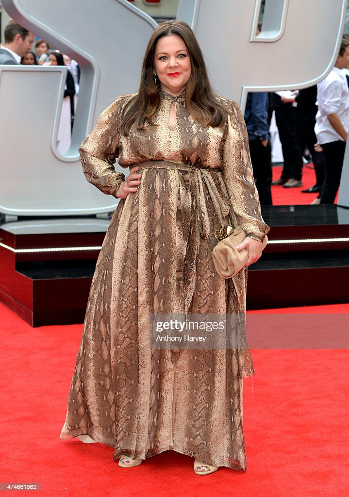 Melissa McCarthy attends the UK Premiere of 'Spy' at Odeon Leicester Square on May 27, 2015 in London, England.