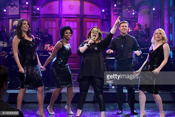 LIVE 'Melissa McCarthy' Episode 1696 Pictured Cecily Strong Sasheer Zamata Melissa McCarthy Taran Killam and Kate McKinnon during the fivetimers...