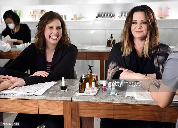 LIVE 'Melissa McCarthy' Episode 1696 Pictured Vanessa Bayer and Melissa McCarthy on February 9 2016