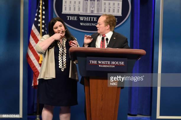 LIVE Melissa McCarthy Episode 1724 Pictured Aidy Bryant as Principal Deputy White House Press Secretary Sarah Huckabee Sanders Melissa McCarthy as...