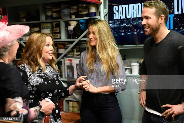 LIVE 'Melissa McCarthy' Episode 1724 Pictured Audience member Joan host Melissa McCarthy Blake Lively Ryan Reynolds during the opening monologue in...