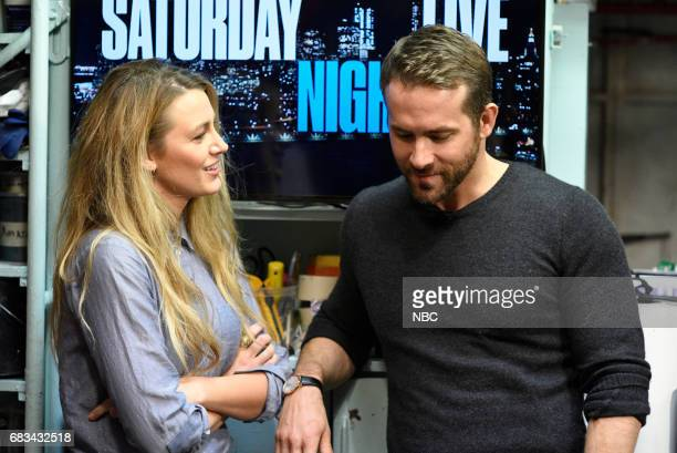 LIVE 'Melissa McCarthy' Episode 1724 Pictured Blake Lively Ryan Reynolds during the opening monologue in Studio 8H on May 13 2017