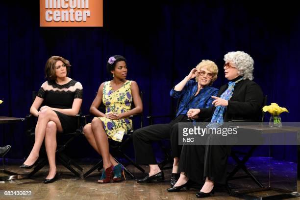 LIVE 'Melissa McCarthy' Episode 1724 Pictured Cecily Strong as Marion Cotillard Sasheer Zamata as Lupita Nyong'o Kate McKinnon as Debette Goldry...