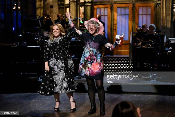 LIVE 'Melissa McCarthy' Episode 1724 Pictured Melissa McCarthy with audience member Joan during the opening monologue on May 13 2017