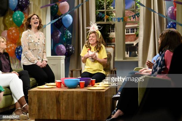 LIVE 'Melissa McCarthy' Episode 1724 Pictured Vanessa Bayer Melissa Villaseñor during 'First Birthday' in Studio 8H on May 13 2017