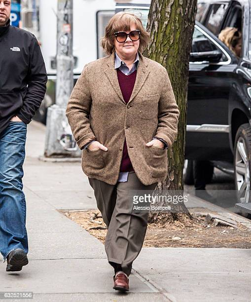 Melissa McCarthy is seen filming 'Can You Ever Forgive Me' on January 23 2017 in New York New York