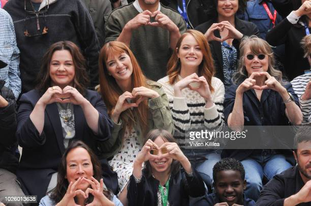 Melissa McCarthy Marielle Heller Emma Stone and Sissy Spacek attend the Telluride Film Festival 2018 on September 1 2018 in Telluride Colorado