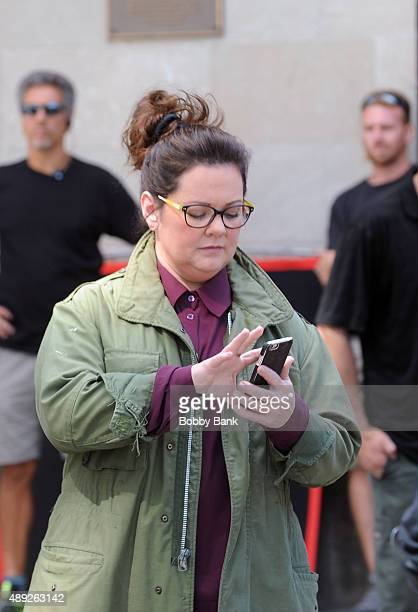 Melissa McCarthy on the set of 'Ghostbusters' on September 19 2015 in New York City