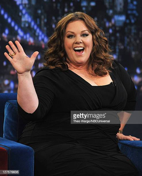 Melissa McCarthy visits 'Late Night With Jimmy Fallon' at Rockefeller Center on September 29 2011 in New York City