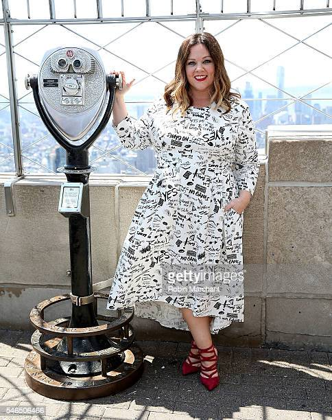 Melissa McCarthy visits The Empire State Building at The Empire State Building on July 12 2016 in New York City