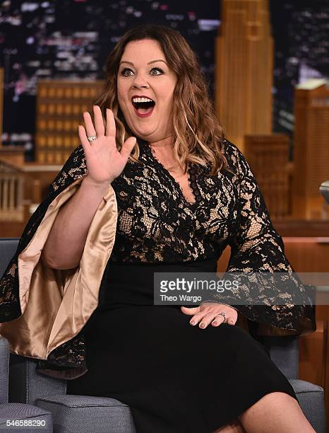 Melissa McCarthy Visits 'The Tonight Show Starring Jimmy Fallon' at Rockefeller Center on July 12 2016 in New York City