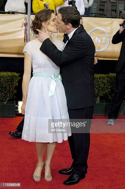 Melissa Merwin and Joshua Malina during The 10th Annual Screen Actors Guild Awards Arrivals at The Shrine Auditorium in Los Angeles California United...