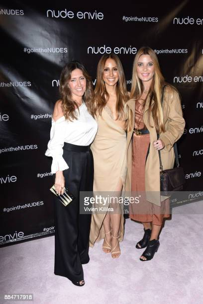 Melissa Meyers Founder and creative director of Nude Envie Isabel Madison and Rachel Anise Wegter attend Nude Envie Holiday/Launch Party Launching...