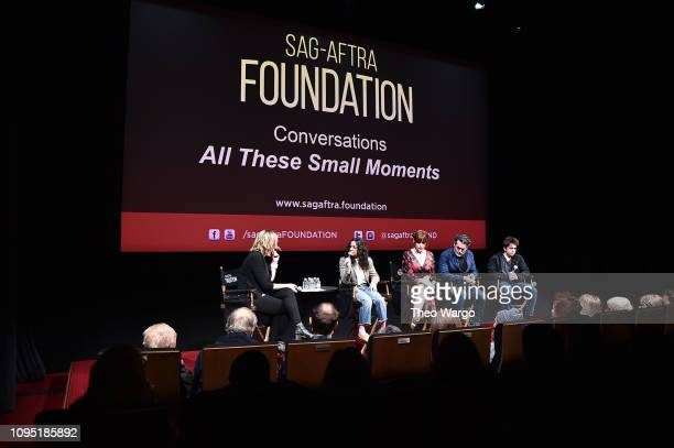 Melissa Miller Costanzo Molly Ringwald Brian D'Arcy and Sam McCarthy attend the SAGAFTRA Foundation Conversation 'All These Small Moments' at The...