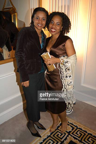 Melissa Millner and Mitzi Miller attend Amistad Hosts The Vow Publication Party at The House of Harry Winston on November 2 2005 in New York City