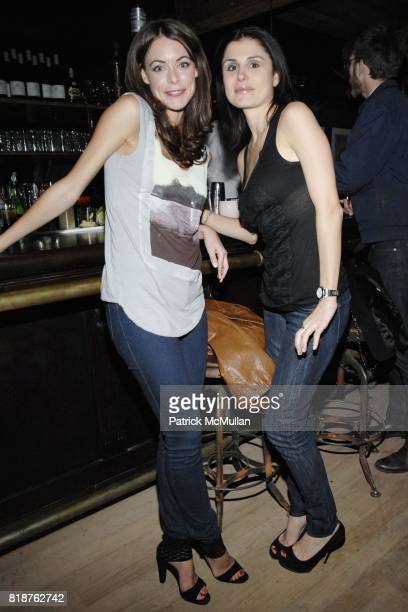 Melissa Milne and Florinka Pesenti attend THE CINEMA SOCIETY hosts the after party of MULTIPLE SARCASMS at The Lion on April 19 2010 in New York City