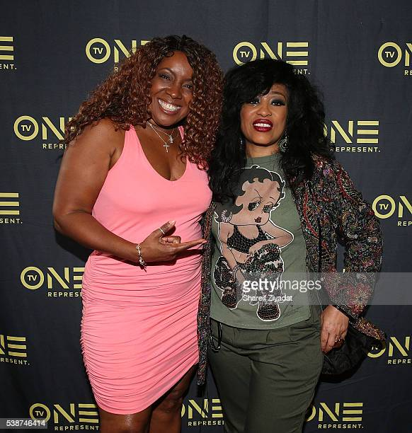 Melissa Morgan and Miki Howard at Love Under New Management The Miki Howard Story at AMC Empire on June 7 2016 in New York City