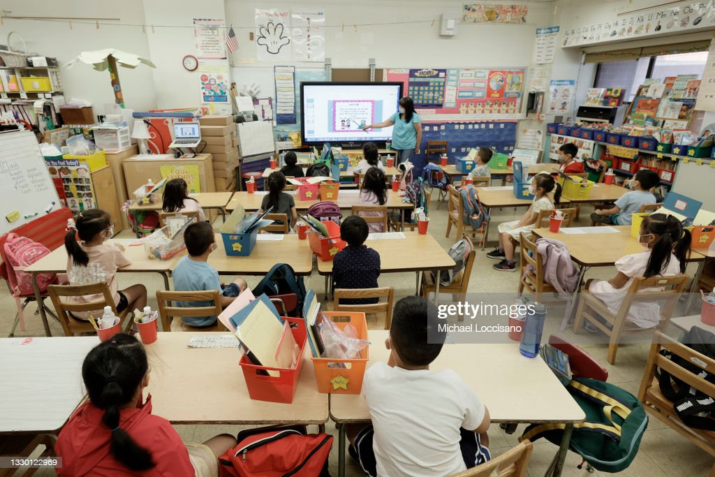 Some New York City Classrooms Go Remote After Positive Covid Cases During Summer Sessions : News Photo