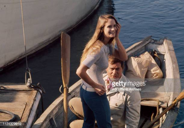 Melissa Newman, Larry Hagman appearing in the Walt Disney Television via Getty Images tv movie 'Getting Away from It All'.