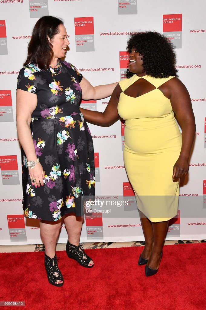 Melissa Norden and Danielle Brooks attend the Bottomless Closet's 19th Annual Spring Luncheon on May 16, 2018 in New York City.