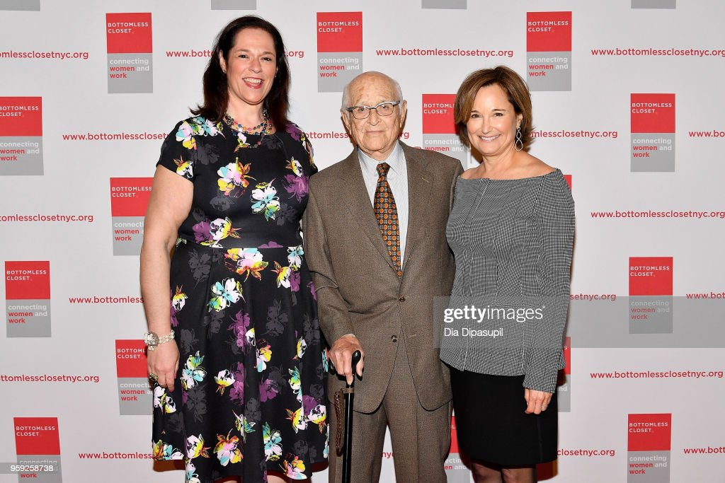 Melissa Norden, Norman Lear and Maggie Lear attend the Bottomless Closet's 19th Annual Spring Luncheon on May 16, 2018 in New York City.