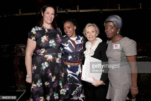 Melissa Norden Starr Watts Joan Morgan and Lakiesha Johnson attend the Bottomless Closet's 19th Annual Spring Luncheon on May 16 2018 in New York City