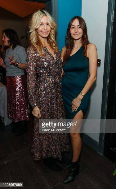Melissa Odabash and Alaia De Santis attend the mothers2mothers International Women's Day dinner hosted by Yasmin Mills with daughter Laurie Mills and...