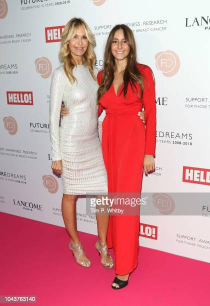 Melissa Odabash and Alaia Odabash arrive at 'TEN A Decade of Dreams' at London Palladium on September 30 2018 in London England The Event is in aid...