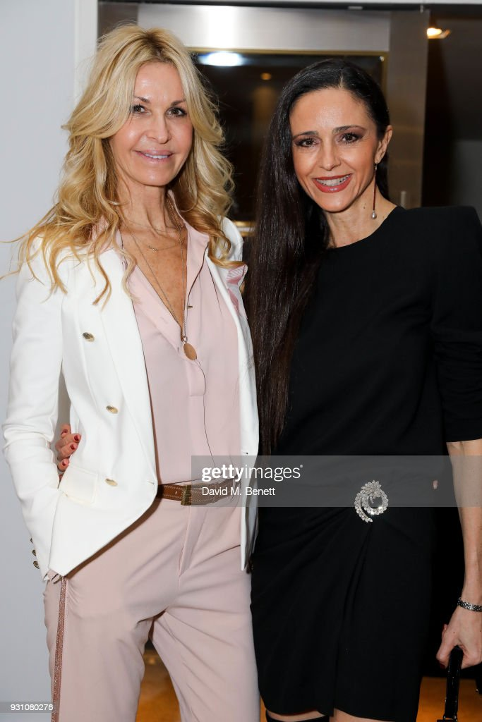 Melissa Odabash and Luna De Casanova attend an exclusive dinner hosted by Melissa Odabash, Amoena and Future Dreams to celebrate the launch of their 2018 pocketed swimwear collection at Grace Belgravia on March 12, 2018 in London, England.