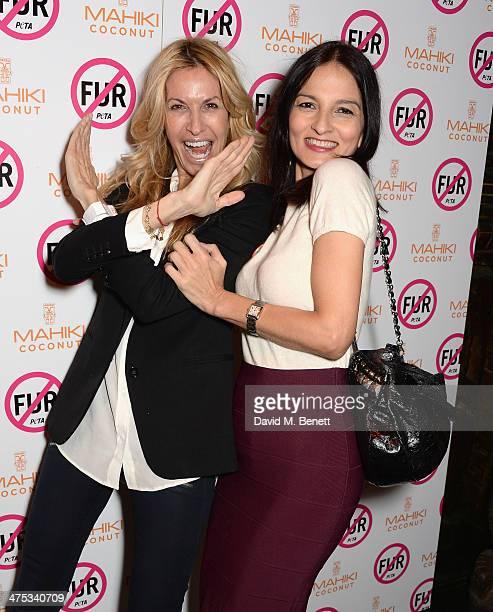 Melissa Odabash and Yasmin Mills attend as PETA host a fur free night at Mahiki on February 27 2014 in London England