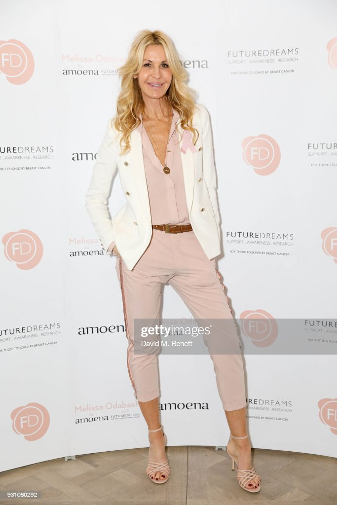 Melissa Odabash attends an exclusive dinner hosted by Melissa Odabash, Amoena and Future Dreams to celebrate the launch of their 2018 pocketed swimwear collection at Grace Belgravia on March 12, 2018 in London, England.