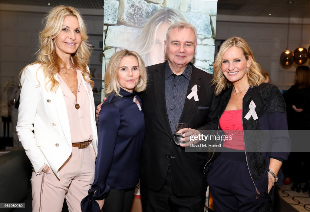 Melissa Odabash, Claire Kelvin, Eamonn Holmes and Jacquie Beltrao attend an exclusive dinner hosted by Melissa Odabash, Amoena and Future Dreams to celebrate the launch of their 2018 pocketed swimwear collection at Grace Belgravia on March 12, 2018 in London, England.