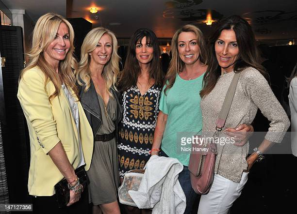 Melissa Odabash, Jenny Halpen, Lisa B, Granie Stevenson, Lulu Moore attends at the launch of Jax Coco coconut water at Harvey Nichols on June 25,...