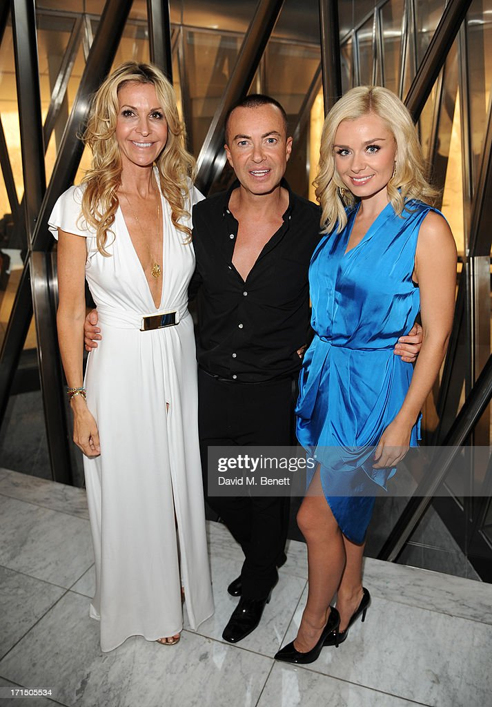 Melissa Odabash, Julien Macdonald and Katherine Jenkins attend the Odabash Macdonald Resort 2014 collection launch at ME Hotel on June 25, 2013 in London, England.