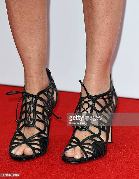 Melissa Odabash shoe detail attends the FiFi UK Fragrance Awards at The Brewery on May 14 2015 in London England