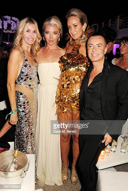 Melissa Odabash Tamara Beckwith Lady Victoria Hervey and Julien Macdonald attend the de Grisogono Party during the 66th International Cannes Film...