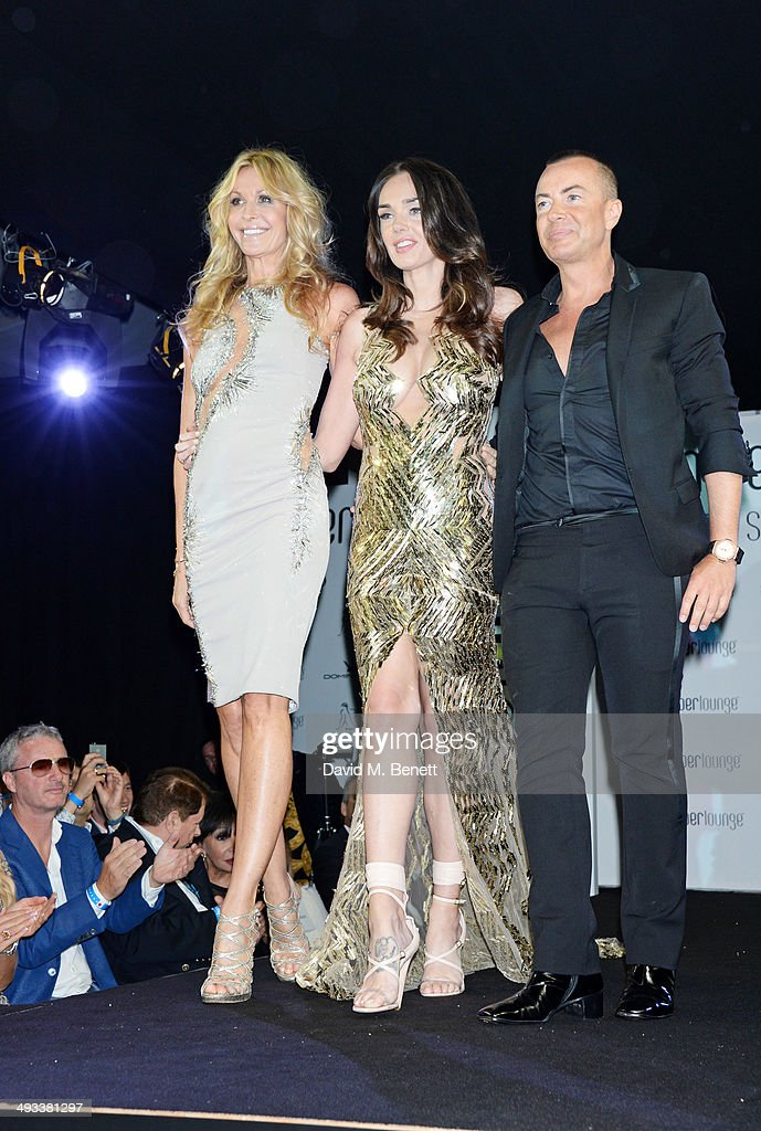 Melissa Odabash, Tamara Ecclestone and Julien Macdonald attend the Amber Lounge 2014 Gala at Le Meridien Beach Plaza Hotel on May 23, 2014 in Monaco, Monaco.